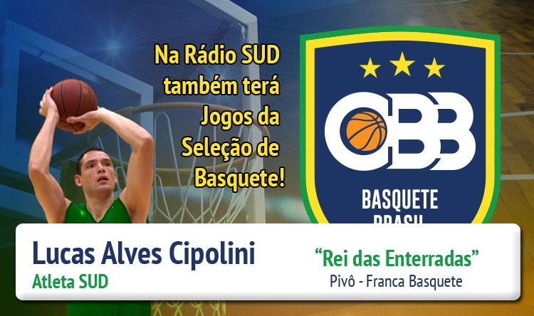 Atleta SUD Lucas Cipolini está convocado para a Seleção Brasileira