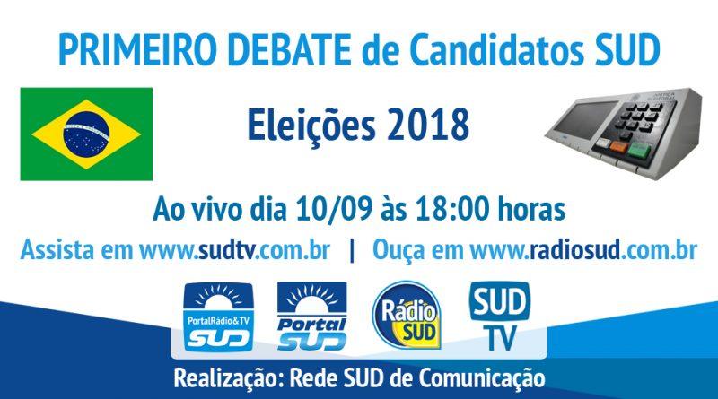 Rádio SUD promoverá o Primeiro Debate de Candidatos SUD