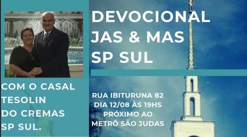12/08/2018 - Devocional com Casal Tesolin para o MAS