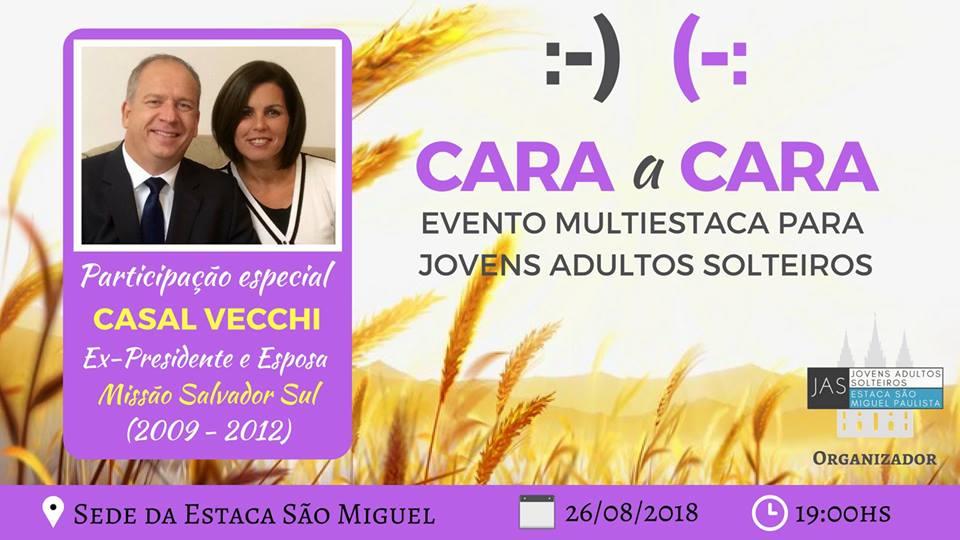 26/08/2018 - Cara a Cara com Casal Vecchi - JAS Estaca São Miguel