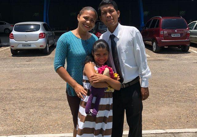 Casal venezuelano busca no Brasil a oportunidade de criar a filha — Foto: Arquivo pessoal/Divulgação