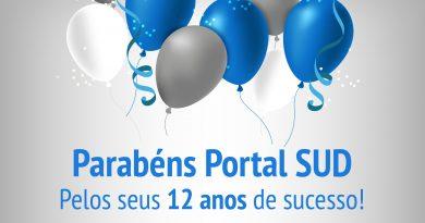 Portal SUD, centralizador da Rede SUD de Comunicação completa hoje, 01 de agosto de 2019, 12 anos de sua fundação.